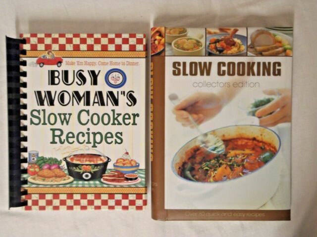 SLOW COOKER BOOK x 2 EXCELLENT AS NEW COND Busy Women's Quick n Easy Recipes