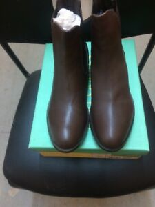 Brown Comfy Leather Chlsea Boots Size Ladies 8 Mod d0Sxx