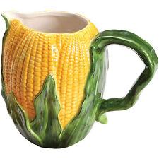 Harvest Corn Ceramic Drink Pitcher - Fruit Vegetable Kitchen Tableware Gift