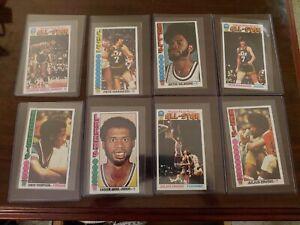 1976-77 Topps Complete Basketball Set Thompson RC Erving Jabbar Maravich Malone
