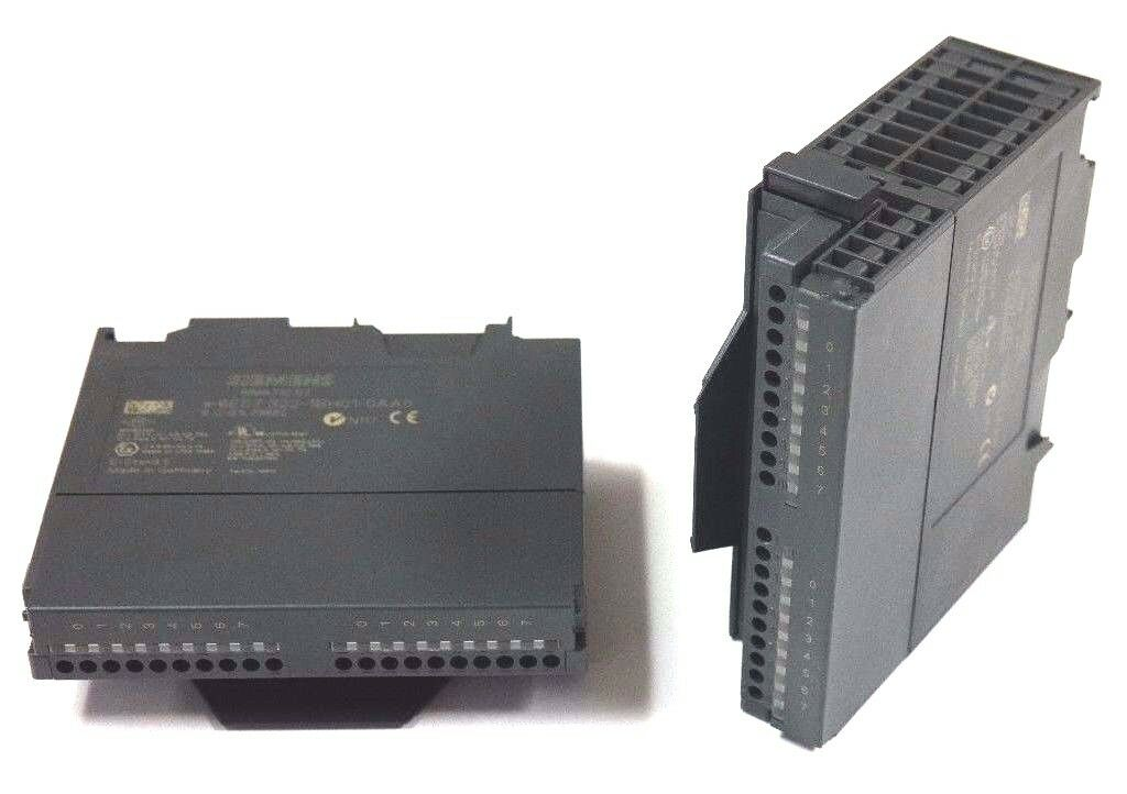 LOT OF 2 SIEMENS 6ES7 322-1BH01-0AA0 SIMATIC S7 OUTPUT MODULES 24VDC, .5AMP