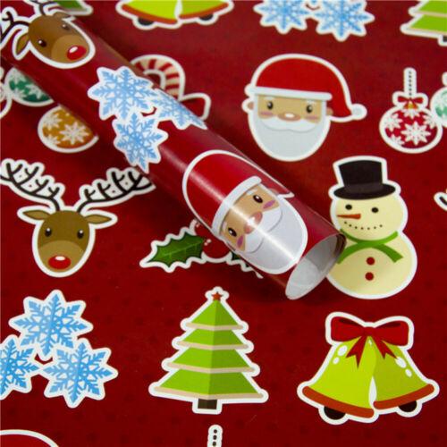 Christmas Wrapping Paper Gift Present 3PCS Tree Santa Wrap Decorative Xmas Roll