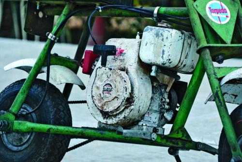 "Torpedo Clinton Engine Powered Vintage Mini Bike Decals 3 1//2"" set of two"