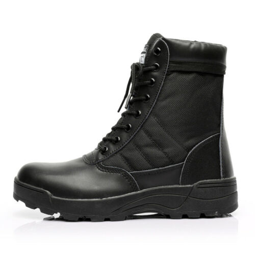 UK Men/'s Boots Leather Army Patrol Combat Tactical Cadet Security Military Shoes