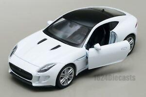 JAGUAR-F-Type-Coupe-Bianco-Welly-scala-1-34-39-modello-Auto-Giocattolo-Regalo
