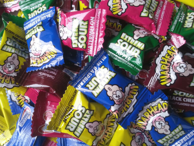 120 Pieces Warheads Extreme Sour Hard Candy - Individually Wrapped Lollies