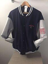 Disneyland Disney Mickey Mouse Wool / Leather Varsity Jacket Men's Sz L Coat