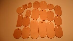 PREMADE LOT OF 20 LEATHER KEYCHAINS assortment varies