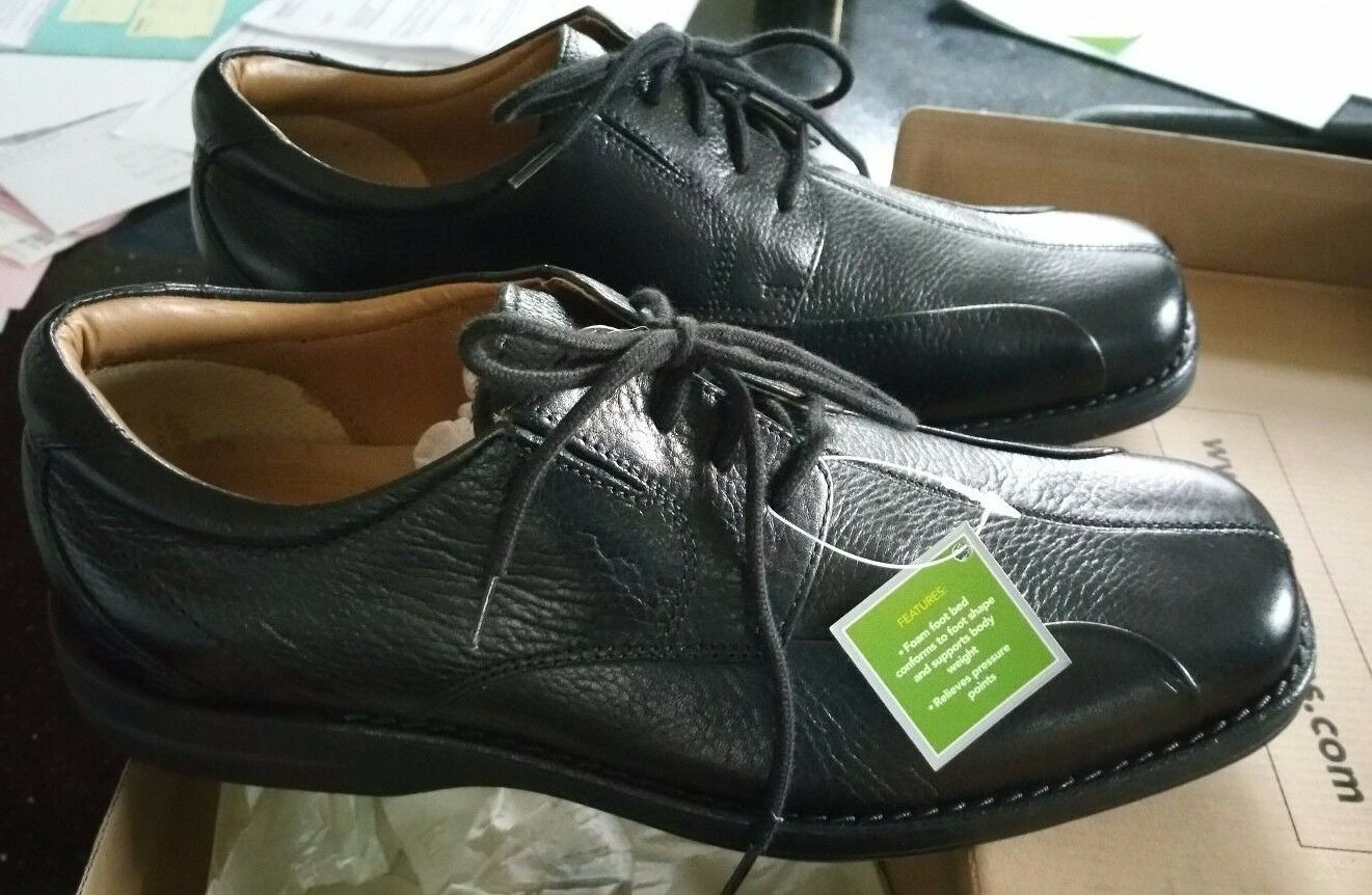 New G.H. Bass & Company Black Cushion Step Men's shoes  119.95 Retail Size 10