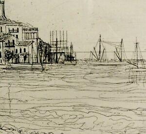 Herbert Grunwaldt (1928-2014) acquaforte fantastici 1961: porto di Maria de campo ITA