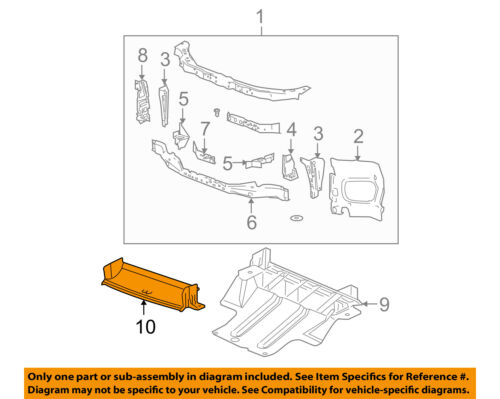 GM OEM Radiator Core Support-Guide 20772039