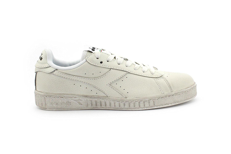 Diadora Zapatos Game L Low Waxed zapatos Bianca Zapatos Diadora hombre mujer Blanco C6180 e020cf