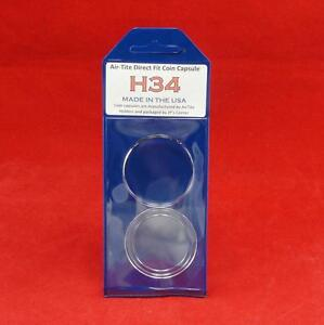 AirTite Direct Fit Coin Holder Capsules Individual Retail Pkg Model H39 Qty 25