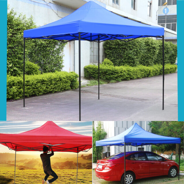 Waterproof 3x3m Pop Up Garden Tent Gazebo Patio Marquee Awning Party Canopy UK