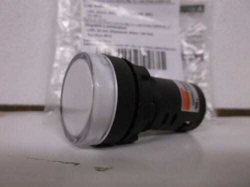 LED Pilot Indicator Light 22MM WHITE NIB (B1)