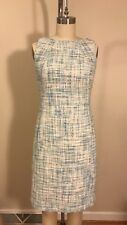Talbots Tweed Shift Dress *2 Petite* Multi Blue