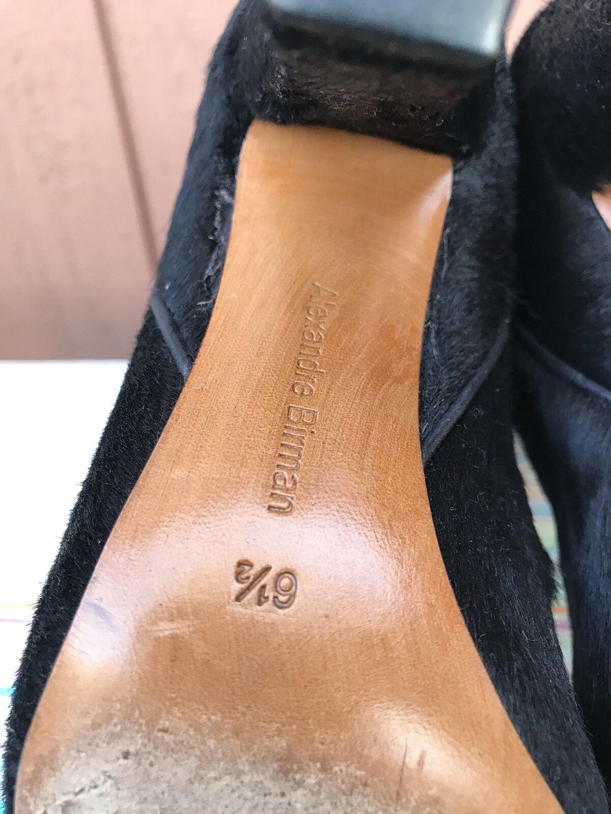 Rara excelente usado estado Alexandre de Birman para mujer Botas de Alexandre pelo Pony Negro 6.5 US c13db4