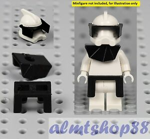 LEGO Star Wars Minifigure Clone Trooper Realistic Black Custom Kama Cape Trim