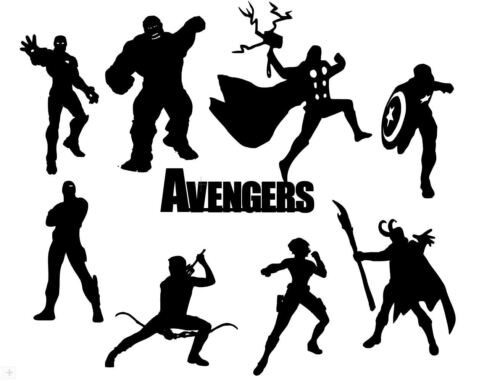 fairy jar Die Cut Outs Silhouette Avengers 16 Set Topper Formes Scrapbook