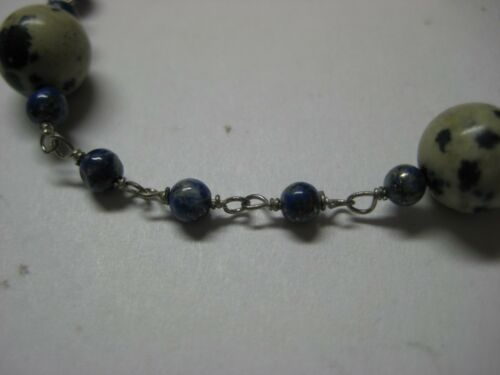 Bracelet with 17.00ctw Genuine Lapis Lazulis /& Jaspers in 925 Sterling Silver