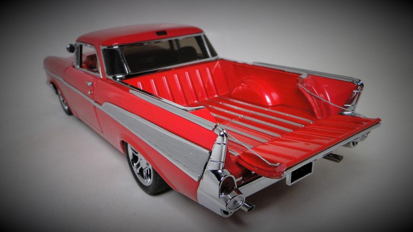 1957 Chevy 1 camioneta coche 12 Vintage Antiguo 24 Deporte Metal 18 Rojo Carrusel