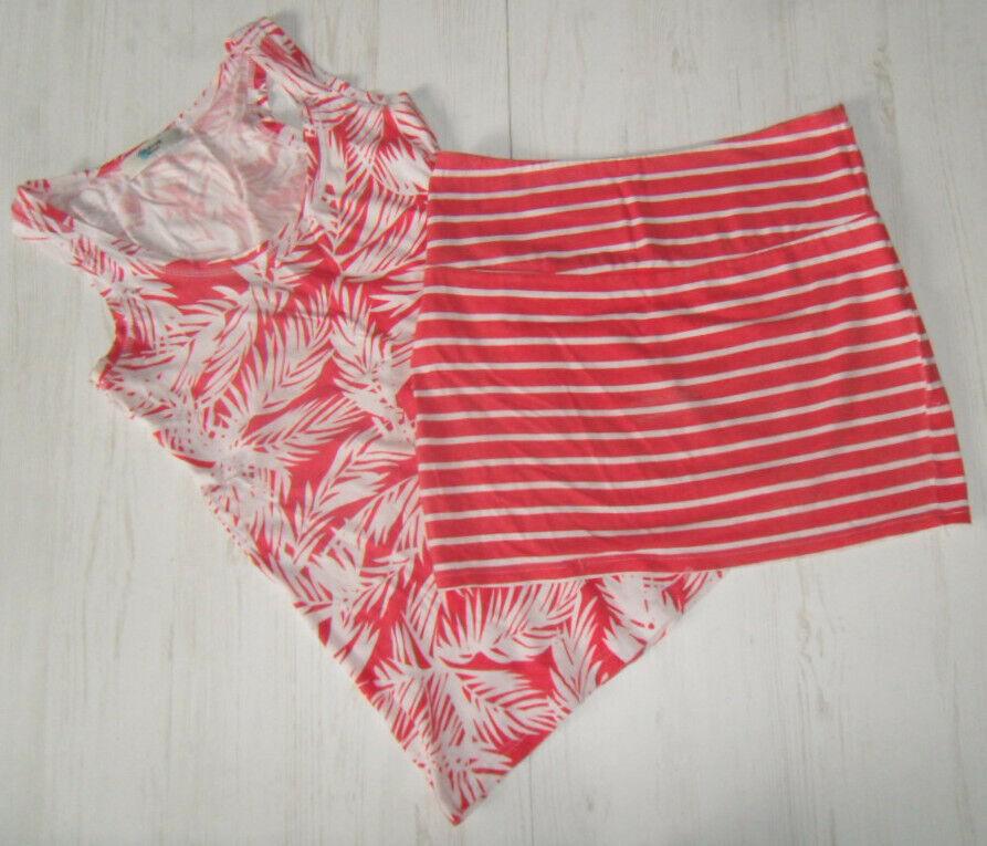 2 teiliges Damen Sommeroutfit Rock und Shirt Gr. 34 rot