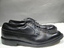 MENS VINTAGE 13 EE L.B.SHEPPARD HANOVER USA BLACK LEATHER BROGUE WINGTIP OXFORD