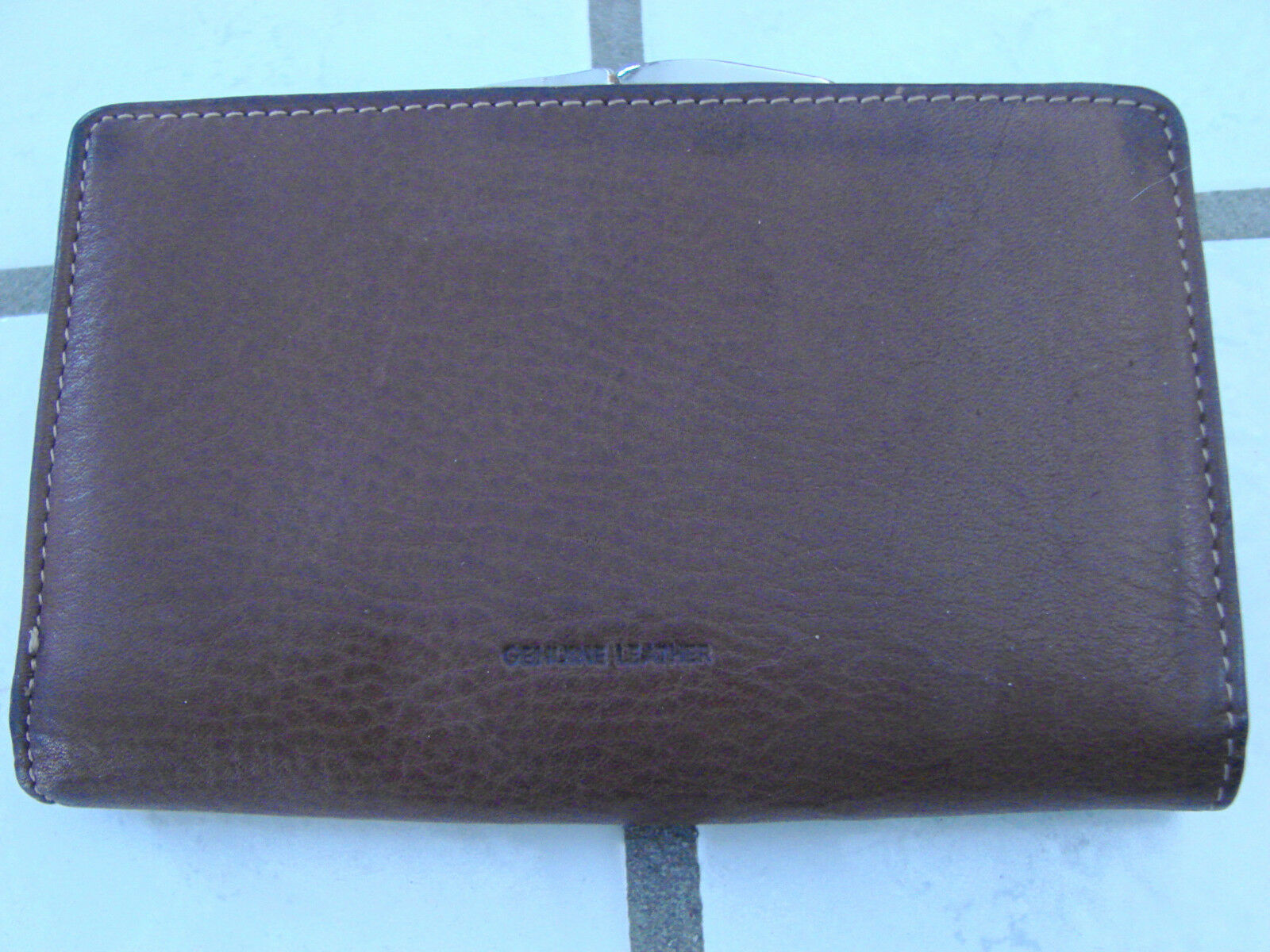 Coin purse wallet Mundi brown leather outer, credit card holder, coins ,