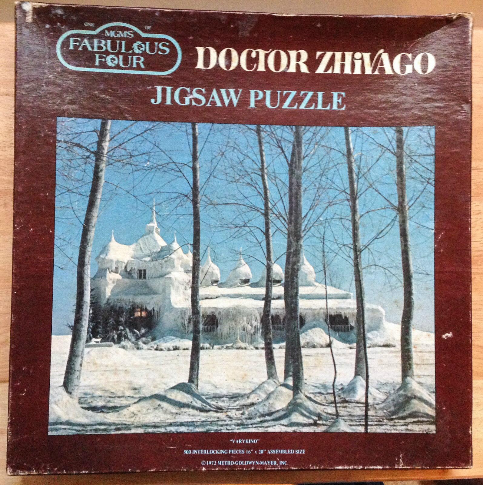 1972 Docteur Jivago Puzzle, Varykino, MGM 'Fabulous quatre séries, 500 pièces