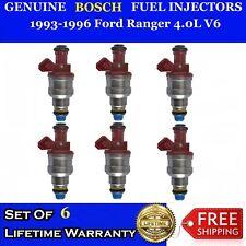 Set Of 6 Oem Bosch Fuel Injectors For 93 96 Ford Ranger 40l V6 0280150931
