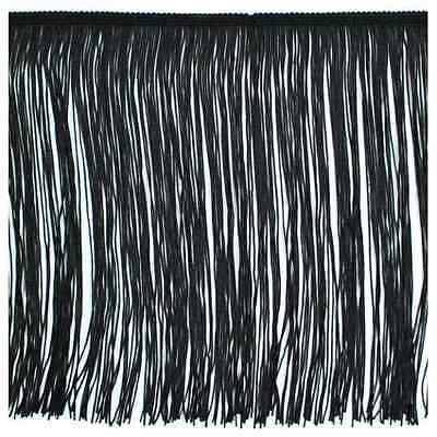 """12"""" Black Chainette Fabric Fringe Lampshade Lamp Costume Trim by the Yard"""