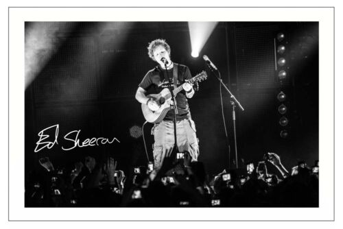 ED SHEERAN SIGNED PHOTO PRINT AUTOGRAPH X TOUR THINKING OUT LOUD