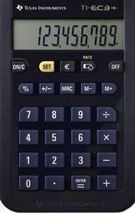 2x-Texas-Instruments-TI-EC-3-Mini-Schul-Taschenrechner