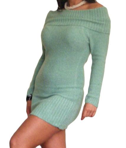Donna Bardot Maglione Manica Lunga Elasticizzata Taglia 8 10 12 14