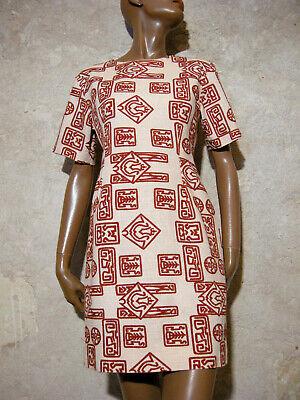 Dedito Chic Vintage Robe Annees 60 1960 True Vtg Dress 60s Kleid 60er Vestido ( 38 ) Grandi Varietà