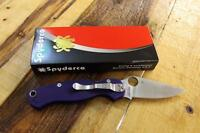 NEW Spyderco Paramilitary 2 C81GPDBL2 S110V Blade & DARK BLUE Handle Scales