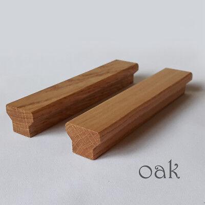 Wooden Door Handles Solid Oak Bar Handles Cabinet Drawers ...