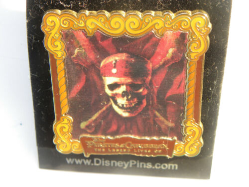 Disney world pin pirates of the caribbean framed lenticular skull