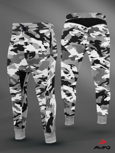 PIMD Trim Urban Camo Fitted Muscle Fitness Bottom Joggers Gym Sweatpants