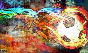 Details Zu Poster Xxl Pop Art Fussball Fussball Graffiti Abstrakt Poster Bis 150x90