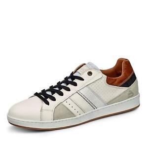 Bullboxer Herren Sneaker Schnürschuhe Turnschuhe Halbschuhe Freizeit Schuh weiß