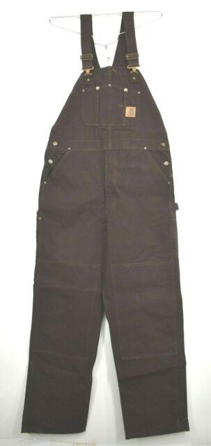 Carhartt Men/'s Sandstone Unlined Bib Overall R06