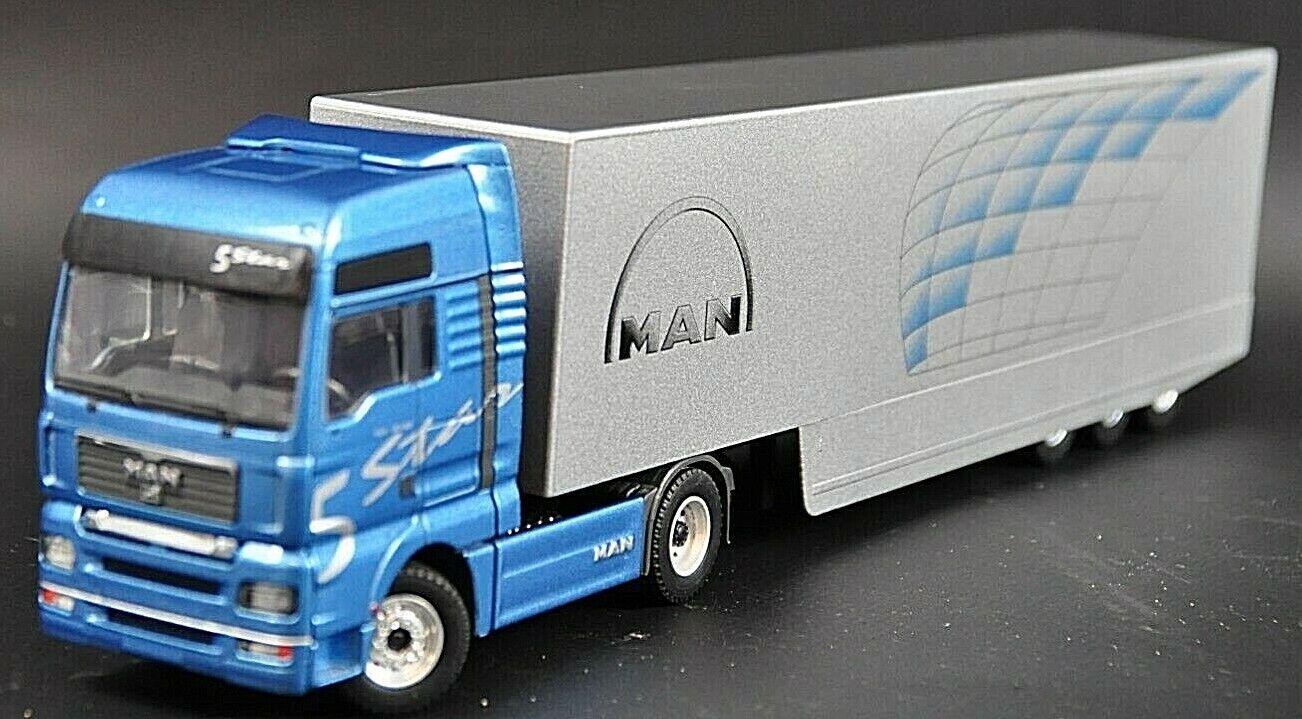 CONRAD MAN TGA 1b530 avec avec avec on remorque voiture miniature camion remorque Top 1 50 5b34 56cc83