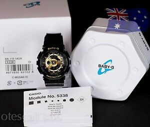 005616dfcf74 Image is loading Casio-Baby-G-BLACK-AND-GOLD-BA-110-