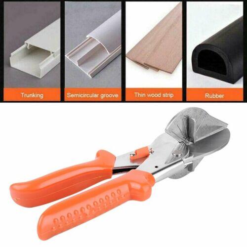 Gehrungsschere 45°-135° Amboss Winkelschneider für Kunststoff Gummi Holz PVC DHL