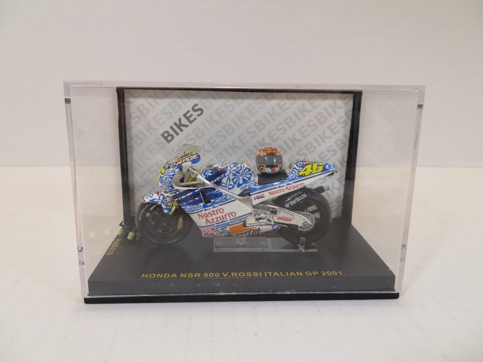 1 12 HONDA NSR 500 VALENTINO ROSSI GP MUGELLO 2001 Dirty Version par Minichamps