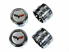 2005-2013 C6 GM Chevy Corvette Radio A//C Knobs with Chrome Ring