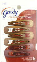 Goody Red Colour Collection Contour Hair Clips - 6 Pcs. (76615)