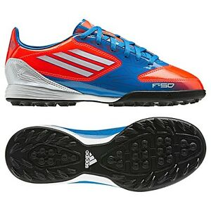 adidas-F10-TRX-TF-Turf-2012-Soccer-Shoes-Blue-White-Red-New-Kids-Youth-Jr