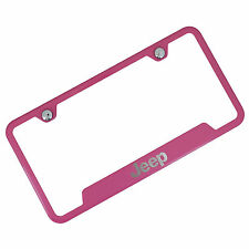 Jeep Pink Stainless Steel License Plate Frame